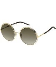 Marc Jacobs Дамы 11-MARC s APQ га золота темные очки Havana