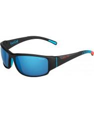 Bolle 12344 черные кожаные солнцезащитные очки