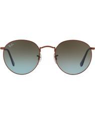 RayBan Rb3447 53 круглый металлический блестящий темно-бронзовый 900396 очки