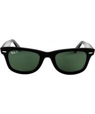 RayBan Rb2140 оригинальный wayfarer черный - зеленый поляризованный
