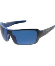 Bolle Diamondback блестящие черные голубые поляризованные Г.Б.-10 солнцезащитных очков