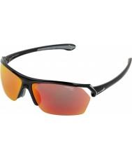 Cebe Дикие блестящий черный многослойные солнечные очки