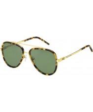 Marc Jacobs Мужские Марка 136-s LSH DJ пятнистый Havana золотые солнечные очки