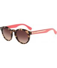 Fendi Цвет блока ФФ 0085-s hk3 d8 Havana розовые очки