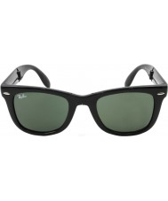 RayBan Rb4105 50 складной Wayfarer черный 601 солнцезащитные очки