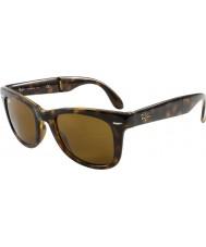 RayBan Rb4105 50 складной путник свет черепаховый 710 солнцезащитные очки