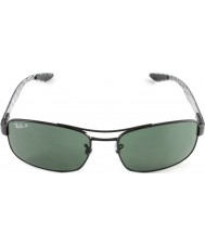 RayBan Rb8316 62 Технология углеродного волокна черный зеленый 002-N5 поляризованных солнцезащитных очков