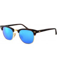 RayBan Rb3016 clubmaster sand tortoiseshell - синее зеркало