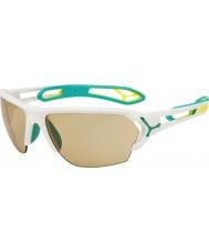 Cebe S-трек большой матовый белый бирюзовый variochrom PERFO очки с 500 ясной замены объектива