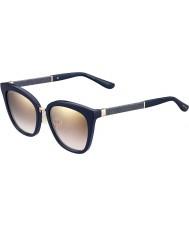 Jimmy Choo Дамы Фабри-S KCA синий сверкающих NH золото зеркальные солнечные очки