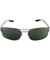 RayBan Rb8316 62 Технология углеродного волокна Gunmetal зеленый 004 солнцезащитные очки