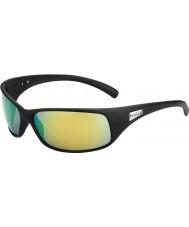 Bolle Отдача матовый черный поляризованные коричневые изумрудные очки