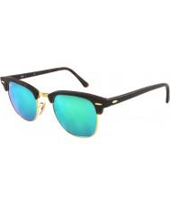 RayBan Rb3016 51 Clubmaster песок черепаховый золота 114519 зеленый зеркало солнцезащитные очки