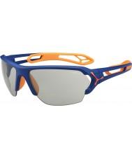 Cebe S-трек большой матовый синий оранжевый variochrom PERFO солнцезащитные очки