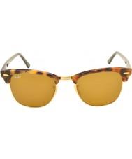 RayBan Rb3016 51 Clubmaster пятнистый коричневые Havana 1160 солнцезащитные очки
