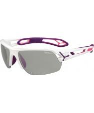 Cebe S-трек средний белый фиолетовый variochrom PERFO солнцезащитные очки