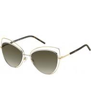 Marc Jacobs Дамы 8-MARC s APQ га золота темные очки Havana