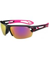 Cebe S-трек средний черный блестящий пурпурный 1500 серый зеркало розовые очки с прозрачной линзой замены