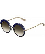 Jimmy Choo Дамы Гота-s 3ue Js голубые золотые солнечные очки