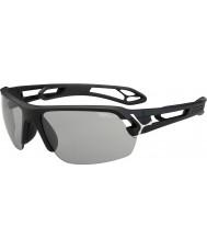 Cebe S-трек средний матовый черный variochrom PERFO солнцезащитные очки