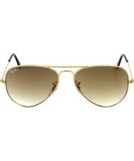 RayBan RB3025 58 летчиком большой металлический золотой 001-51 солнцезащитные очки