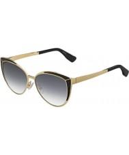 Jimmy Choo Дамы Domi-s PSU 9в золото черные очки