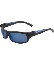 Bolle Ожесточенные блестящие черные голубые поляризованные очки синие морские