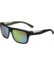 Bolle Клинт матовый черный лайм поляризованный коричневые изумрудные очки