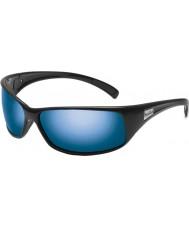 Bolle Отдача блестящие черные поляризованные морские голубые очки