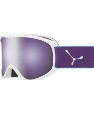 Cebe CBG60 Striker м белый и фиолетовый - темные розы вспышка зеркало лыжные очки