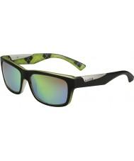 Bolle Jude матовый черный лайм поляризованный коричневые изумрудные очки