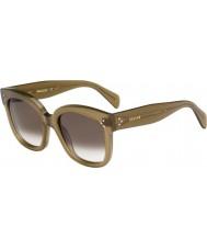 Celine Дамы кл 41805-S qp4 Z3 военные зеленые очки