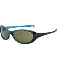 Cebe Коала (возраст 7-10) блестящий черный кристалл голубые очки