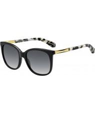 Kate Spade New York Дамы julieanna-s ANW f8 черного золота солнцезащитные очки