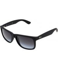 RayBan Rb4165 55 Justin черная резина 601-8g очки