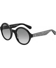 Kate Spade New York Дамы khrista-ые s2j O0 черного серебра блестящие очки