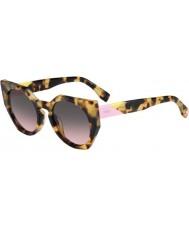 Fendi Грани ФФ 0151-s 00f ан пятнистый Havana очки