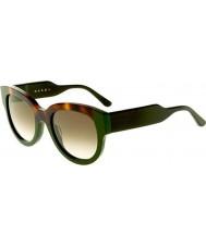 Marni Дамы me600s Гаваной и зеленые очки