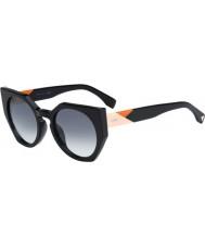 Fendi Грани ФФ 0151-s 807 Дж.Дж. черные очки