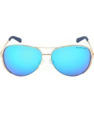 Michael Kors Mk5004 59 челси розового золота 100325 синий зеркальные солнечные очки