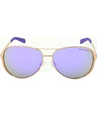 Michael Kors Mk5004 59 челси розового золота 10034v фиолетовые зеркальные солнечные очки
