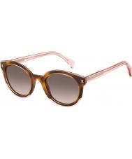 Tommy Hilfiger Дамы-й 1437-S lq8 3x розовый Havana солнцезащитные очки