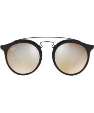 RayBan Rb4256 49 Гэтсби матовый черный 6253b8 серые зеркальные солнечные очки