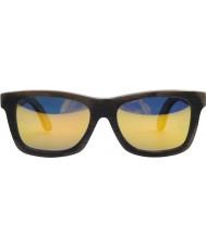 Swole Panda Темно-коричневые Wayfarer солнцезащитные очки поляризованный бамбука