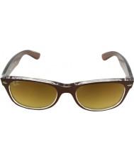 RayBan Rb2132 52 новый путник сверху матового коричневого цвета на прозрачных 614585 солнцезащитных очков